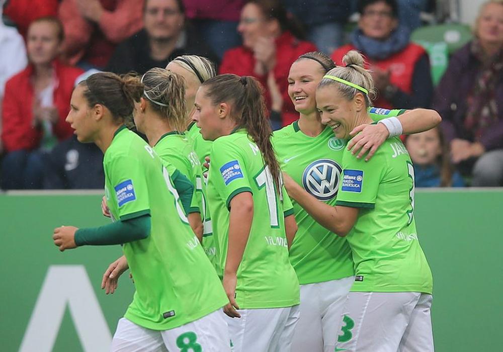 Elf Tore im ersten Test: VfL Wolfsburg Frauen. Foto: Agentur Hübner/Archiv