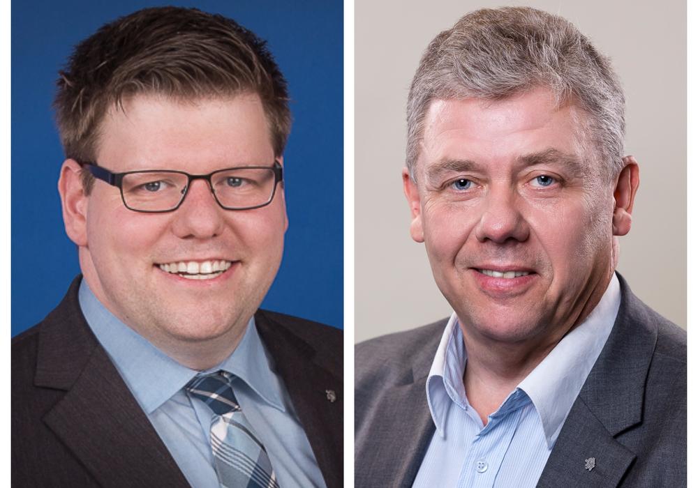 Thorsten Köster (li.) und Kai-Uwe-Bratschke kritisieren den Haushaltsentwurf der Verwaltung. Fotos: CDU