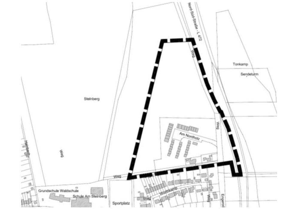 Geplantes Baugebiet. Karte: Stadt Salzgitter