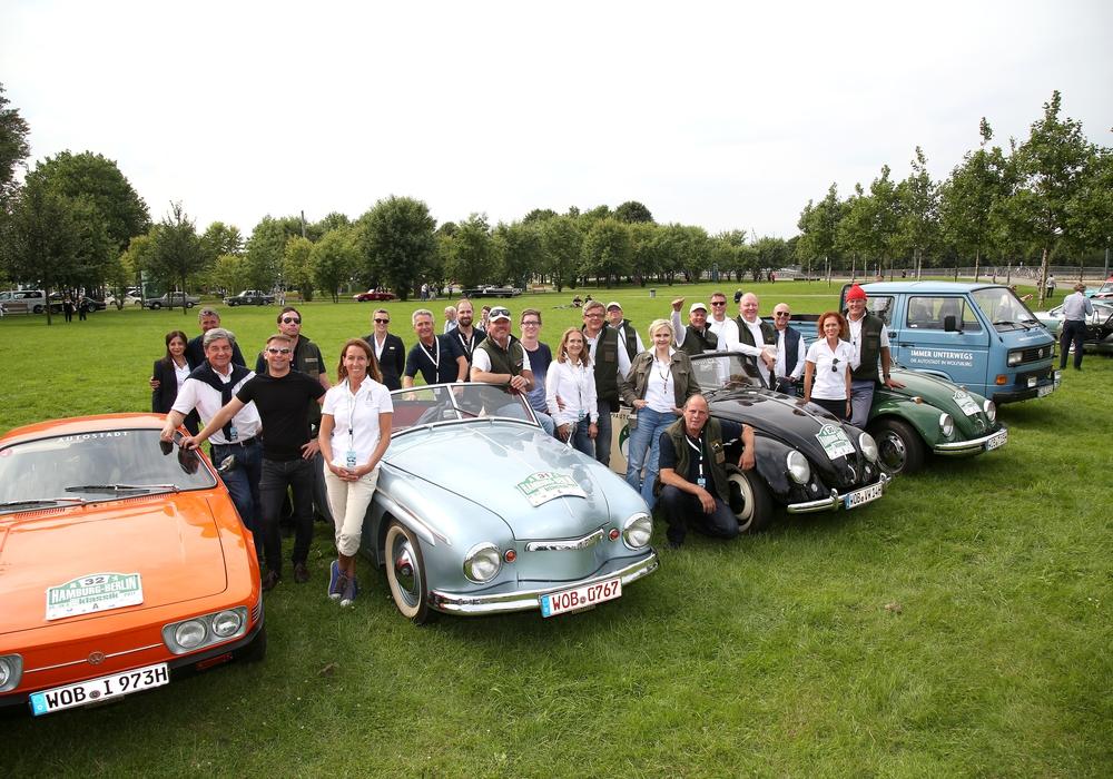 Das Team der Autostadt im Ziel. Foto: Matthias Leitzke