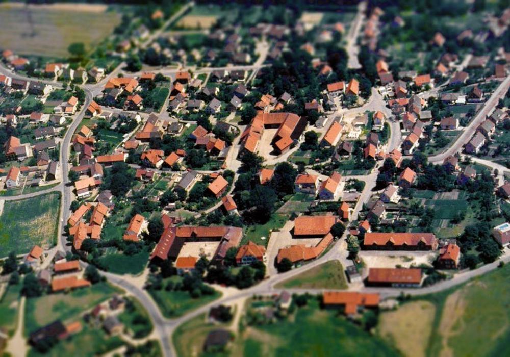 Luftaufnahme von Gitter aus Juli 1987. Foto: Markus-Schulze