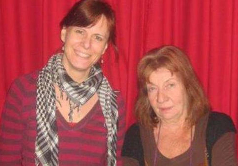 Nadja Frick und Claudia Rothberger. Foto: Die Linke