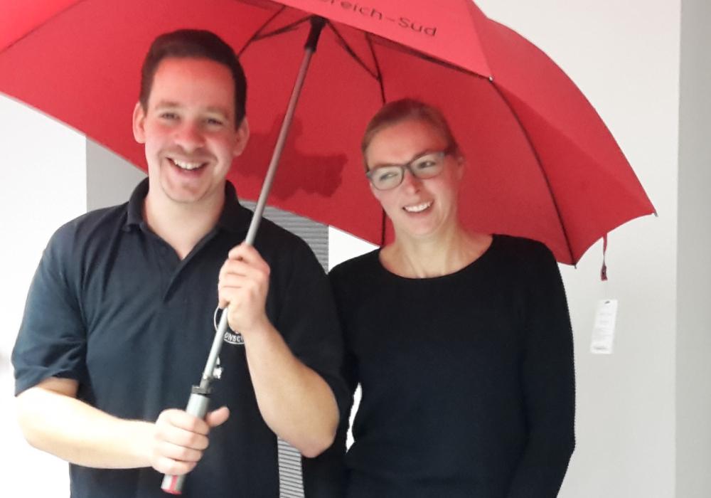 Christian Arnold und Doreen Lasogga. Foto: Jugendfeuerwehr Braunschweig