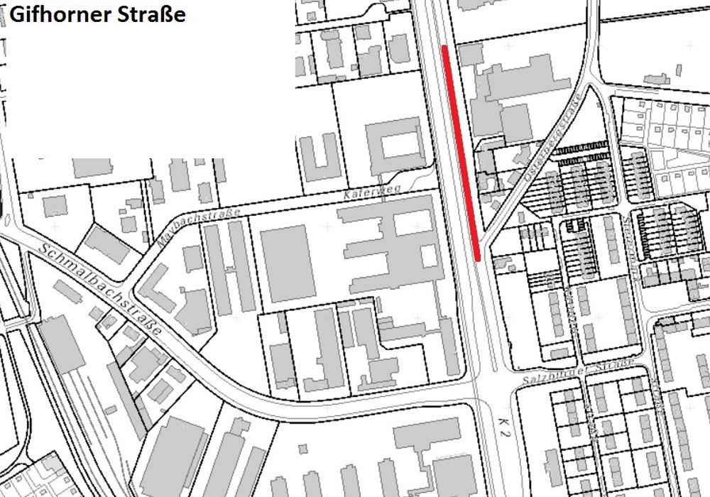 Im markierten Bereich wird ab dem Wochenende gebaut. Grafiken: Stadt Braunschweig