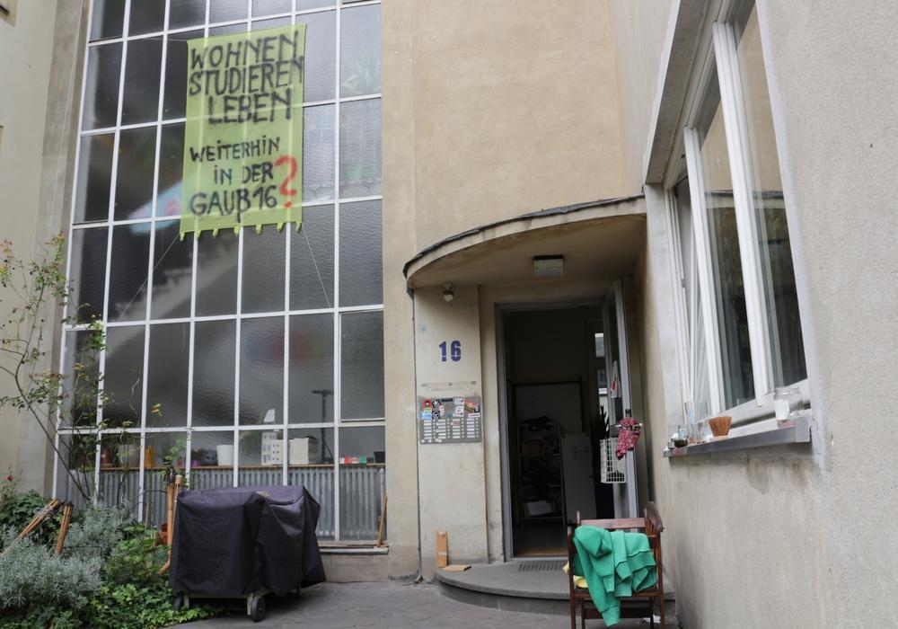 Das Studentenwohnheim in der Gaußstraße 16 steht vor der Schließung. Foto: Braumann