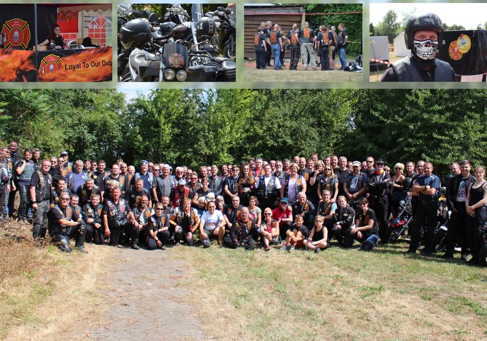 Knapp 150 Motorradfans folgten dem Aufruf. Fotos: Sandra Zecchino