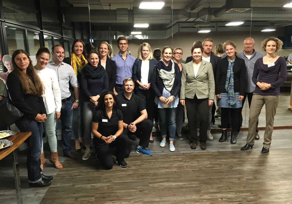 """Diesmal hatten die Existenzgründer und Unternehmer aus Braunschweig und Umgebung die Gelegenheit sich zumThema """"Gesund führen"""" auszutauschen. Foto: Wirtschaftsjunioren"""