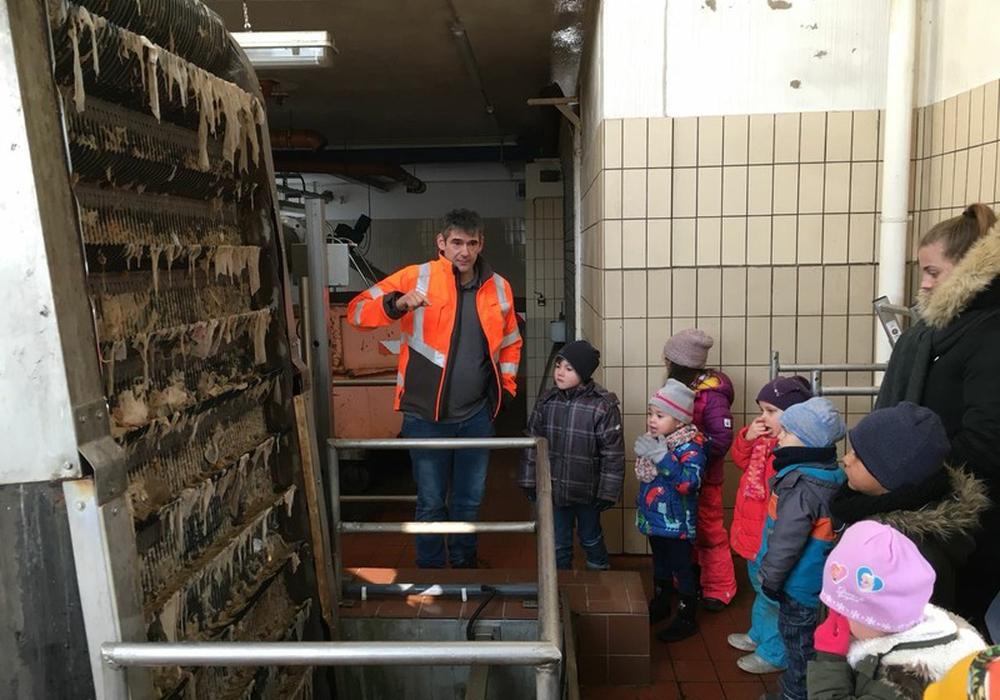 Die Schmetterlinge des Kindergartens St. Ludgeri besuchten die städtische Kläranlage. Foto: Wiebke Saalfrank