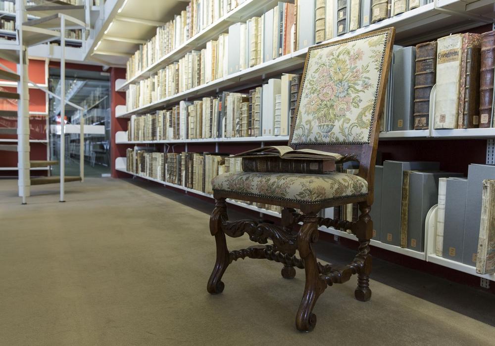 Blick auf antiquarische Neuerwerbungen der Herzog August Bibliothek Wolfenbüttel. Foto: HAB