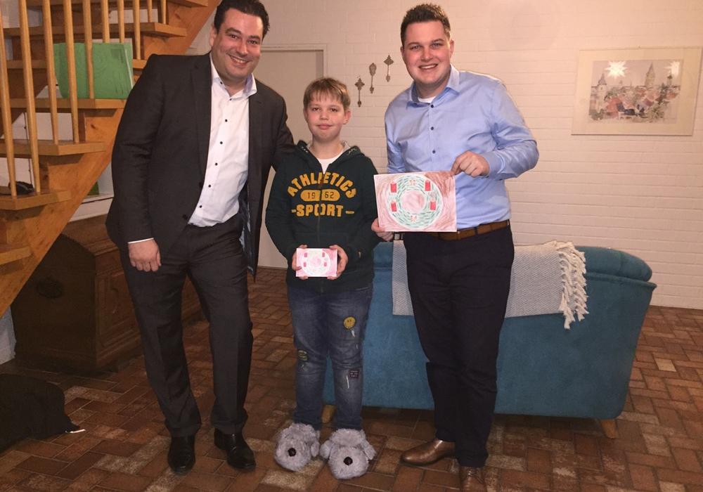 Das selbstgemalte Bild des neunjährigen Jeremia ziert die Weihnachtskarte der Gifhorner SPD-Abgeordneten. Foto: SPD Gifhorn.