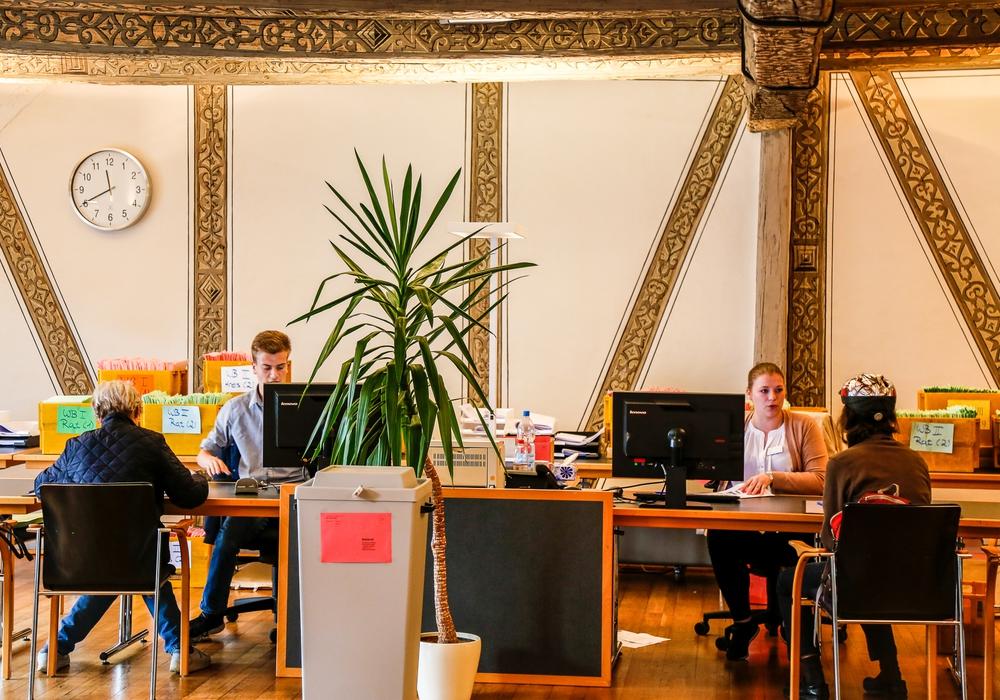 Das Briefwahlbüro im Wolfenbütteler Rathaus ist ab sofort geöffnet. Foto: Stadt Wolfenbüttel