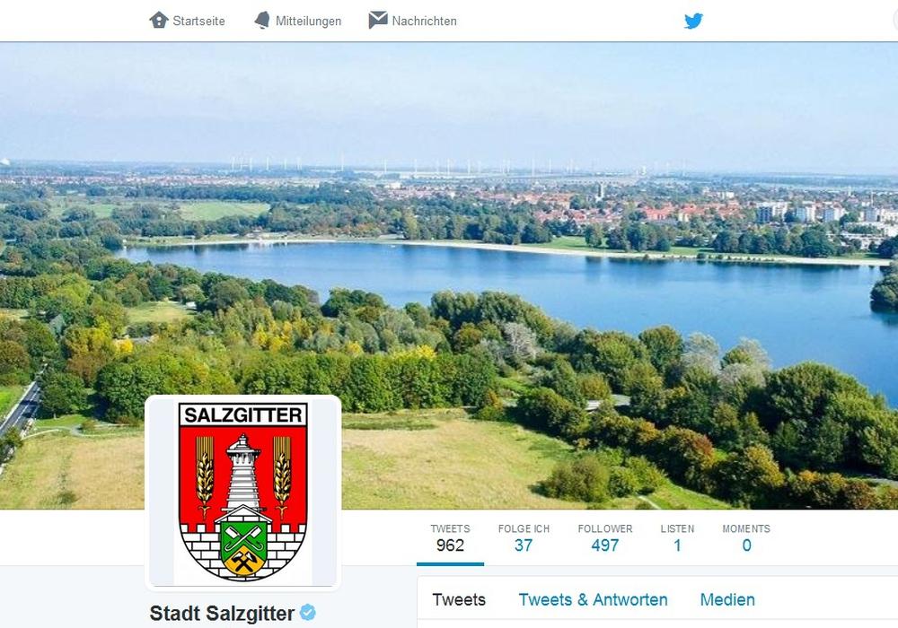 Die Stadt Salzgitter ist auch bei Twitter vertreten. Foto: Stadt Salzgitter