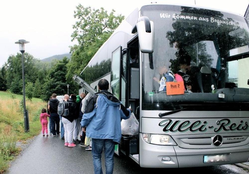 Flüchtlinge bei der Ankunft, Foto: A. Donner