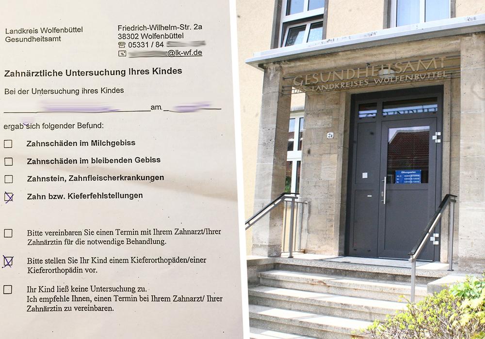 Der zahnärztliche Befund wird unverschlossen an die Grundschüler verteilt. Fotos:Werner Heise/Anke Donner/privat