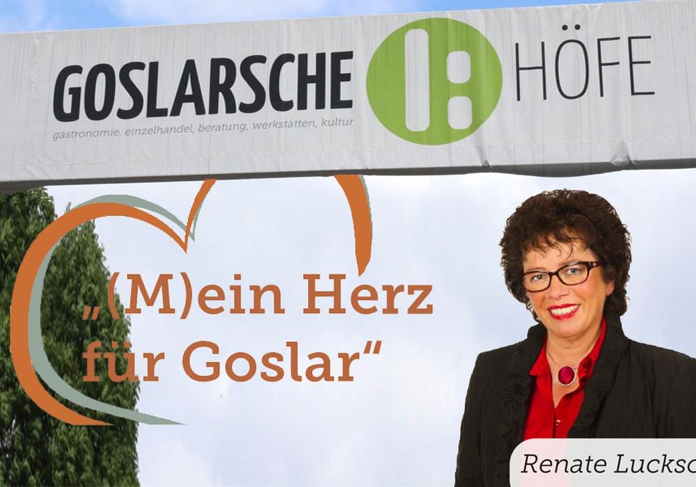 """""""Redezeit"""" mit Renate Luksch. Foto: Anke Donner; Goslarsche Höfe"""