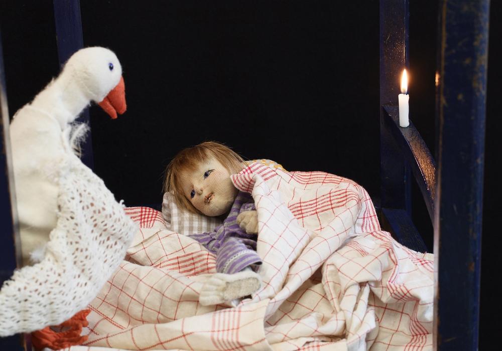 """""""Die Weihnachtsgans Auguste"""" ist ein Gastspiel des Theater Anke Berger. Foto: Frank Bauerochs"""