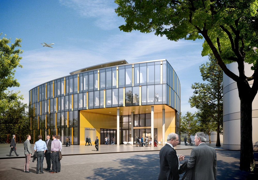 Das Lilienthalhaus am Forschungsflughafen Braunschweig. Foto: Volksbank BraWo Projekt GmbH