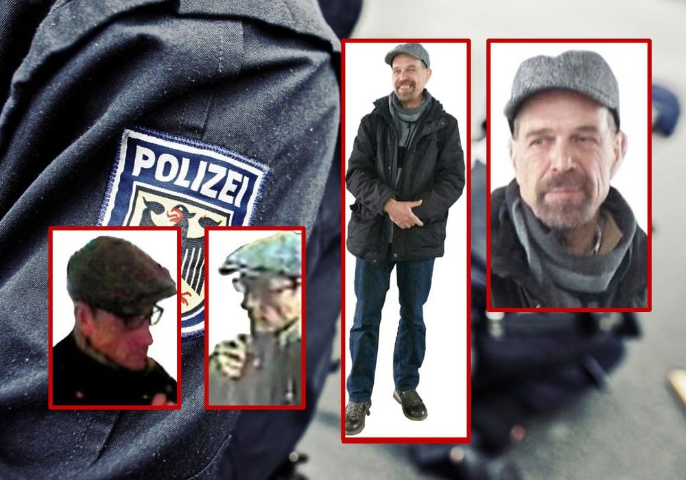 Wer hat diese Männer gesehen? Fotos: Polizei
