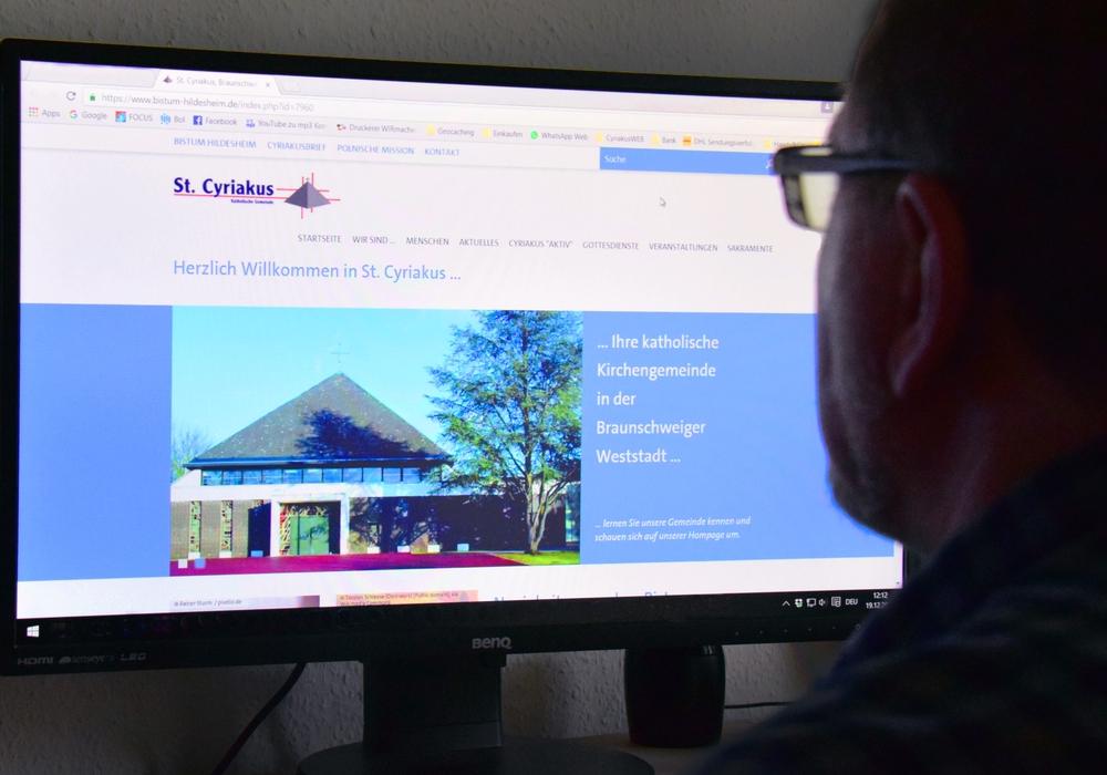 Die katholische Pfarrgemeinde St. Cyriakus ist nun im Internet präsent. Foto. Pfarrgemeinde St. Cyriakus
