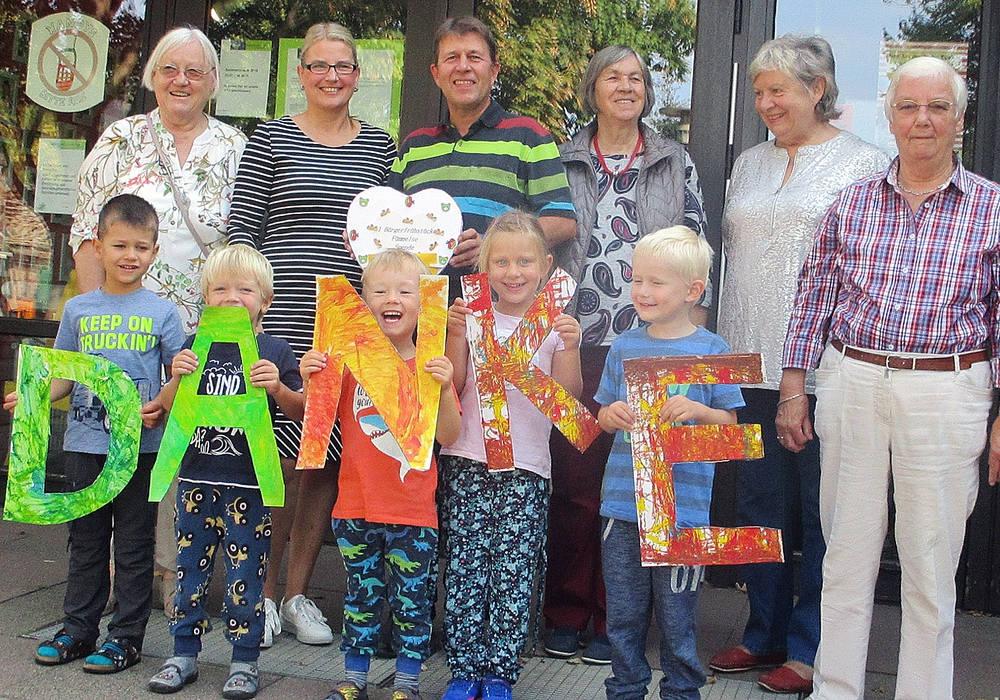 "Die Kita-Kinder sagen ""DANKE"". Foto: Stadt Wolfenbüttel"