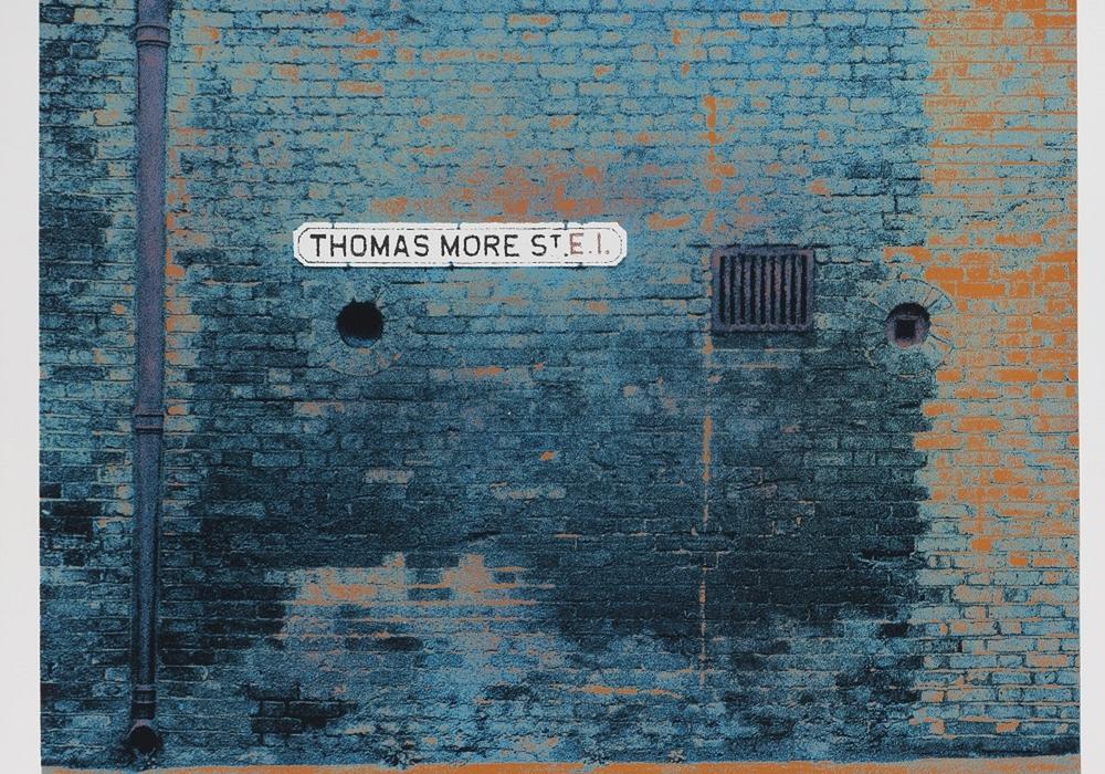 Gerd Winner, Thomas More Street, 1972, Siebdruck, 96,5 x 70,2 cm, Foto: Städtisches Museum Braunschweig, Dirk Scherer