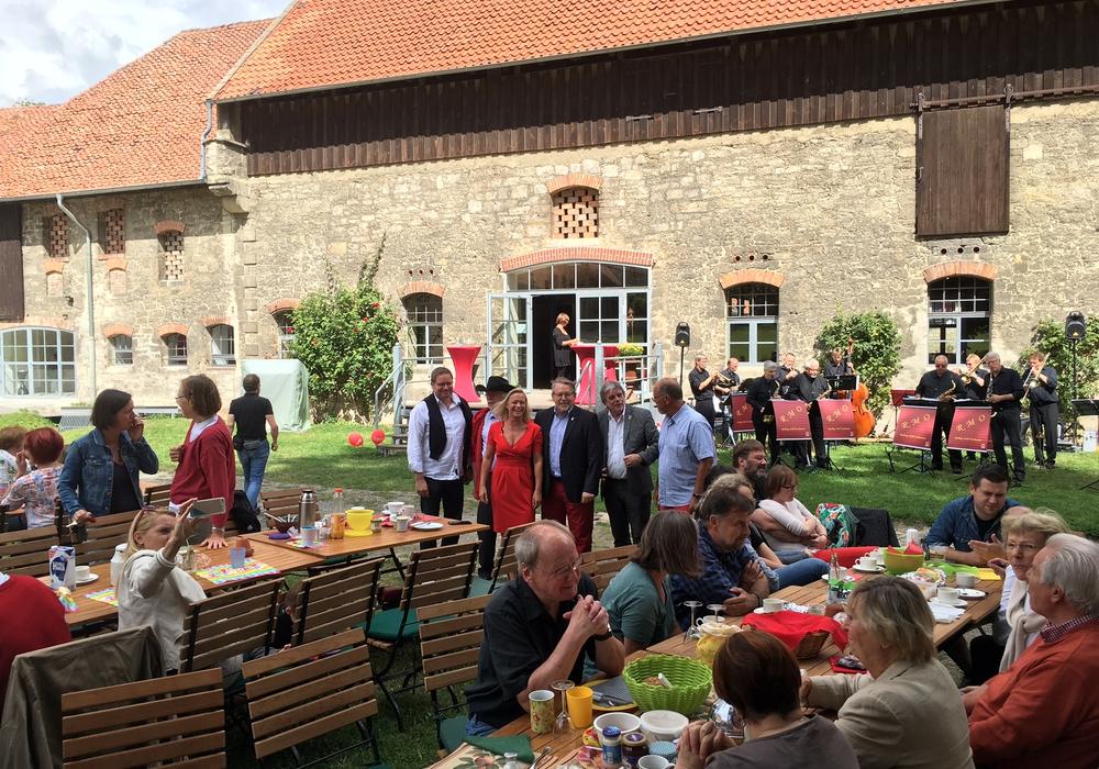 Vertreter der SPD beim Lucklumer Spätsommer-Jazz. Foto: Matthias Olschack