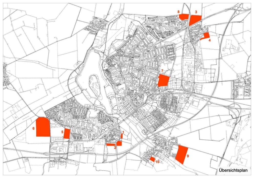 Hier befinden sich die geprüften Standorte. Karte: Stadt Salzgitter