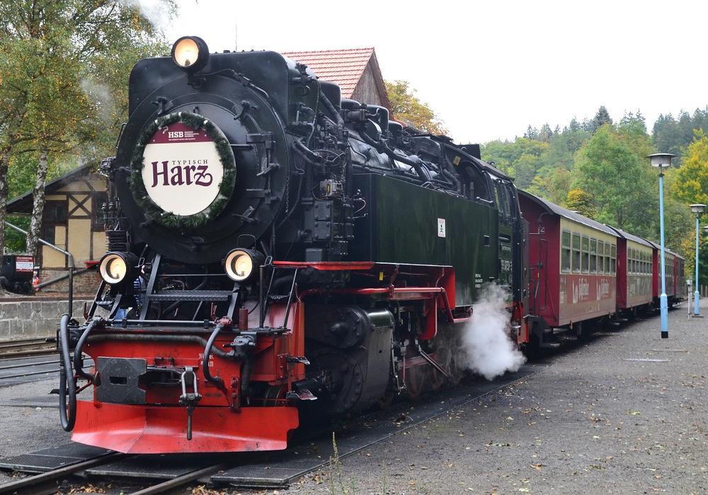 """Der """"Typisch Harz-Express"""" startet in Quedlinburg. Foto: A. Lehmberg, HTV"""