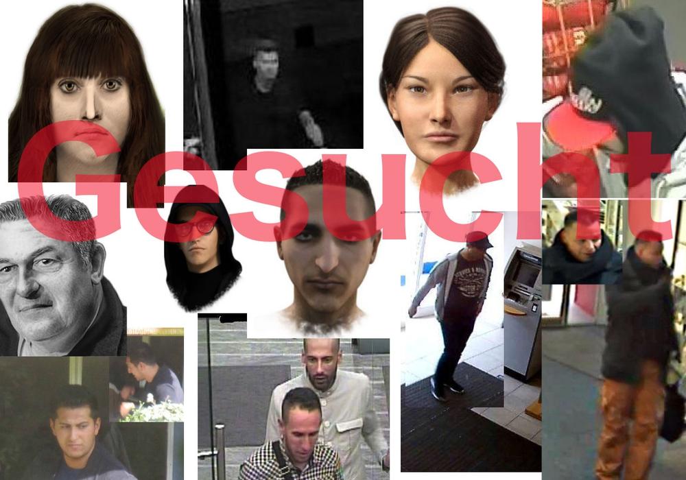 Aktuell sind auf der Internetseite der Polizeidirektion Braunschweig Fahndungsaufrufe zu zwölf Straftaten in den vergangenen zwei Jahren zu finden. Fotos: Polizei