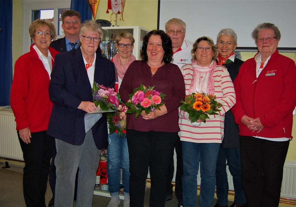 Der Ortsverband Königslutter ehrte verdiente Mitglieder. Foto: DRK