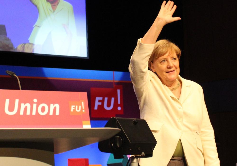Angela Merkel bei der Frauen Union in Braunschweig. Fotos: Nick Wenkel