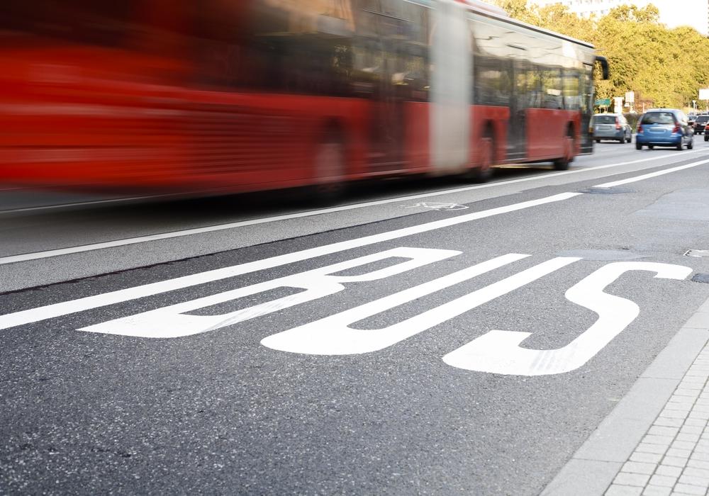 """""""Bus lane, bus passing, blurred motion"""""""