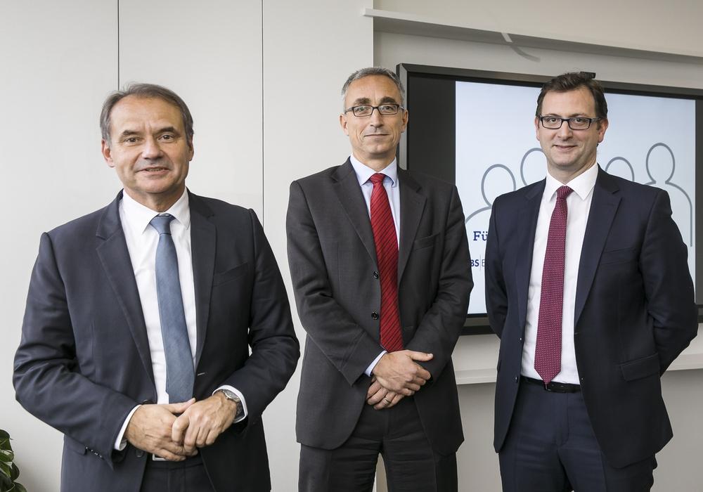 Ulrich Markurth , Dr. Volker Lang, Julien Mounier (v. li.). Foto: BS Energy/Peter Sierigk