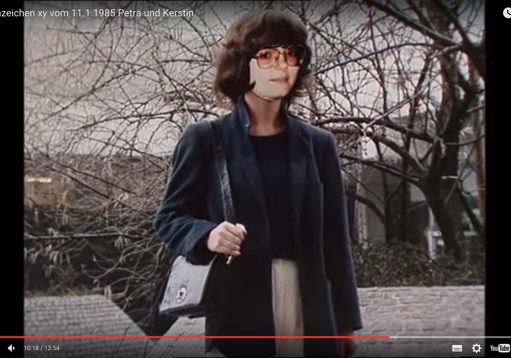 Die vermeintliche ermordete Petra tauchte in Düsseldorf als Frau Schneider lebendig auf. Auf dem Bild sehen Sie die Schauspielerin, die Petra P. in der Sendung Aktenzeichen XY spielte. Foto: Aktenzeichen XY