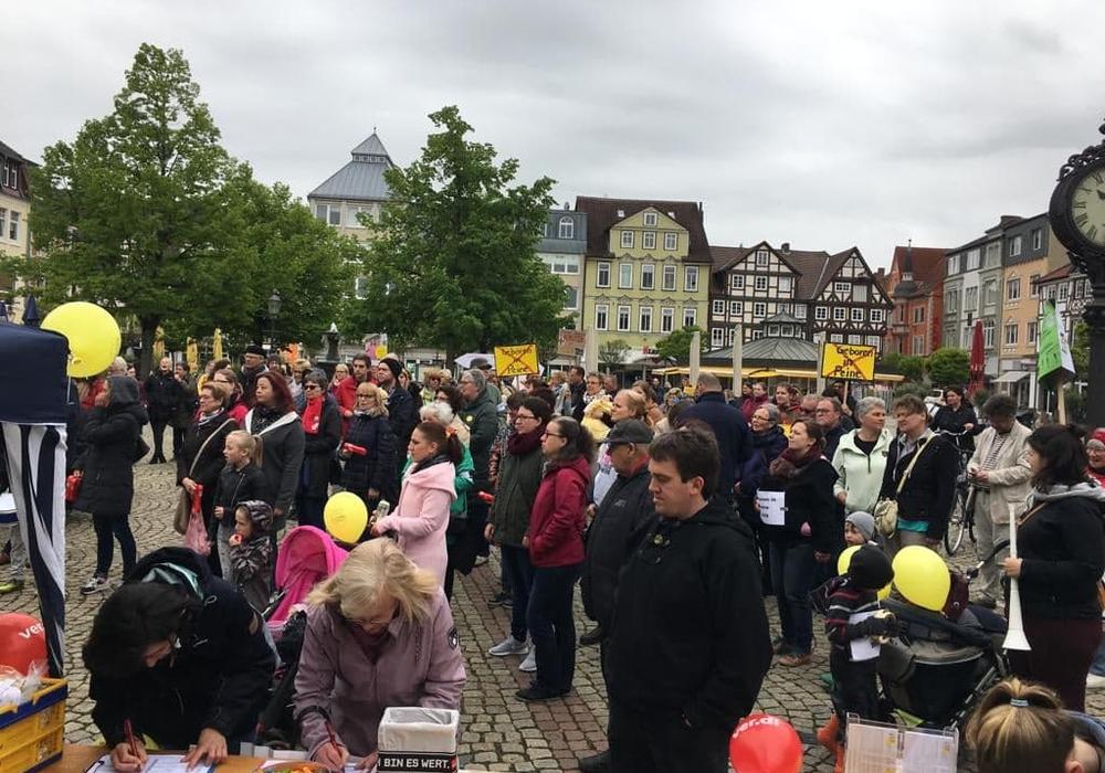 Rund 150 Demonstranten setzten sich für den Erhalt der Gynäkologie ein. Fotos: AktionGynPeine