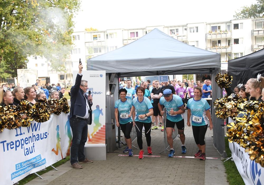 Insgesamt 604 Läuferinnen und Läufer haben sich im Vorfeld zum 12. VWI Treppenhauslauf am 22. September angemeldet. Foto: Volkswagen Immobilien GmbH