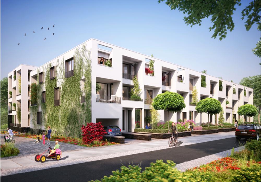Wohnhof-Projekt auf Baufeld B, Visualisierung: Lohmann Architekten