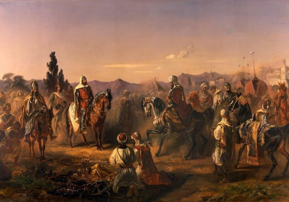 Heinrich der Löwe trifft in Palästina mit Sultan Arslan zusammen, gemalt 1887 von Hermann August Theodor Tunica (1826-1907) Städtisches Museum Braunschweig. Foto: Dirk Scherer