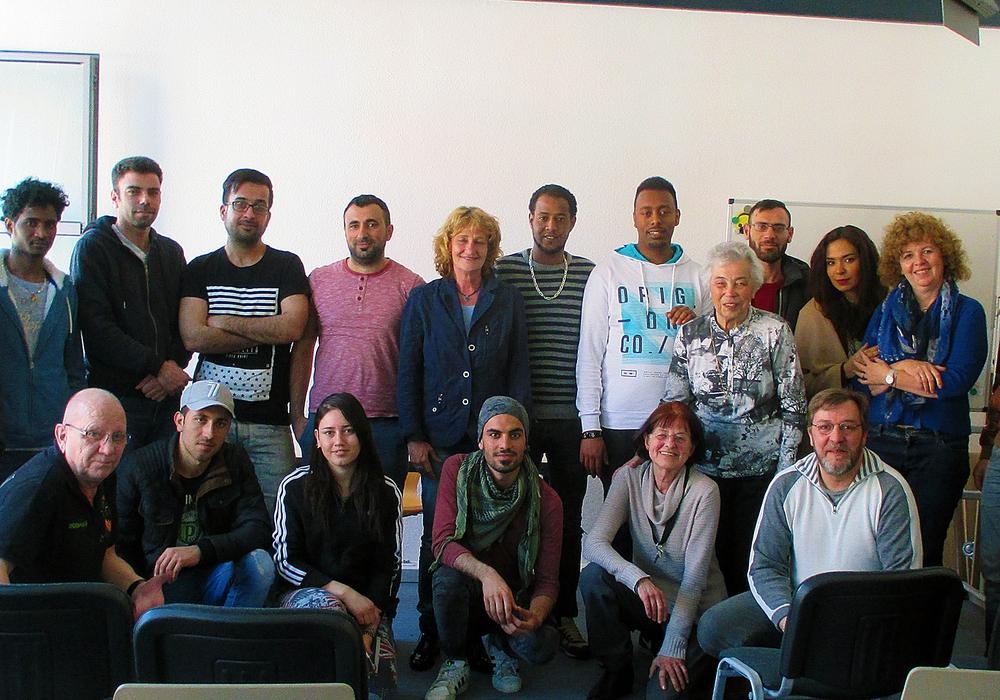 Die Teilnehmer und Organisatoren des Filmprojekts. Fotos: Stadt Wolfenbüttel