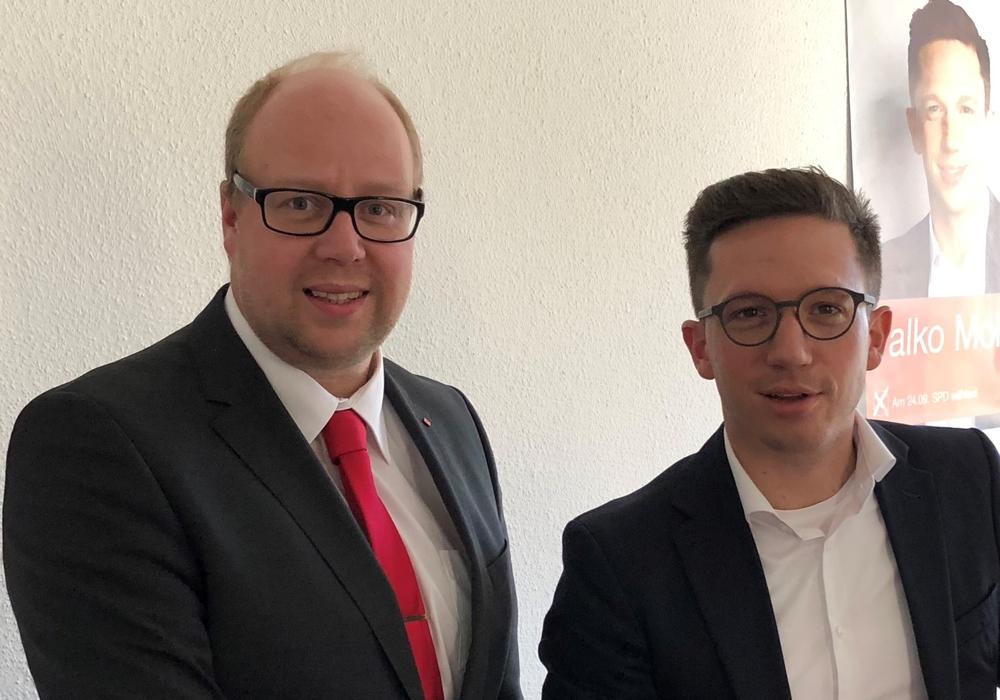 Jörn Domeier und Falko Mohrs laden zum Infotag ein. Foto: SPD
