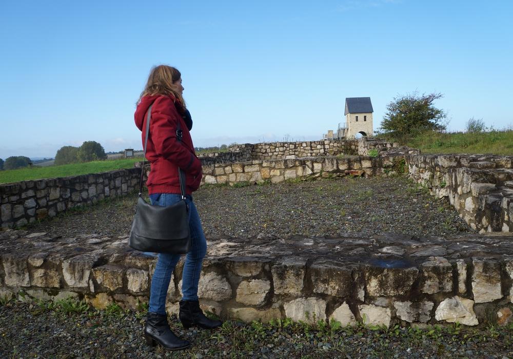 Ulrike Siemens besuchte die Werla. Foto: Grüne