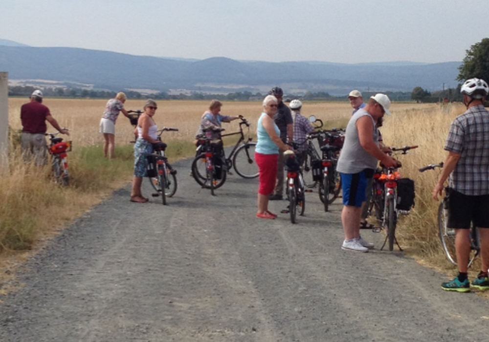 Bei herrlichem Sonnenschein trafen sich die Teilnehmer zur Fahrradtour der CDU Schladen. Foto: CDU Ortsverein Schladen