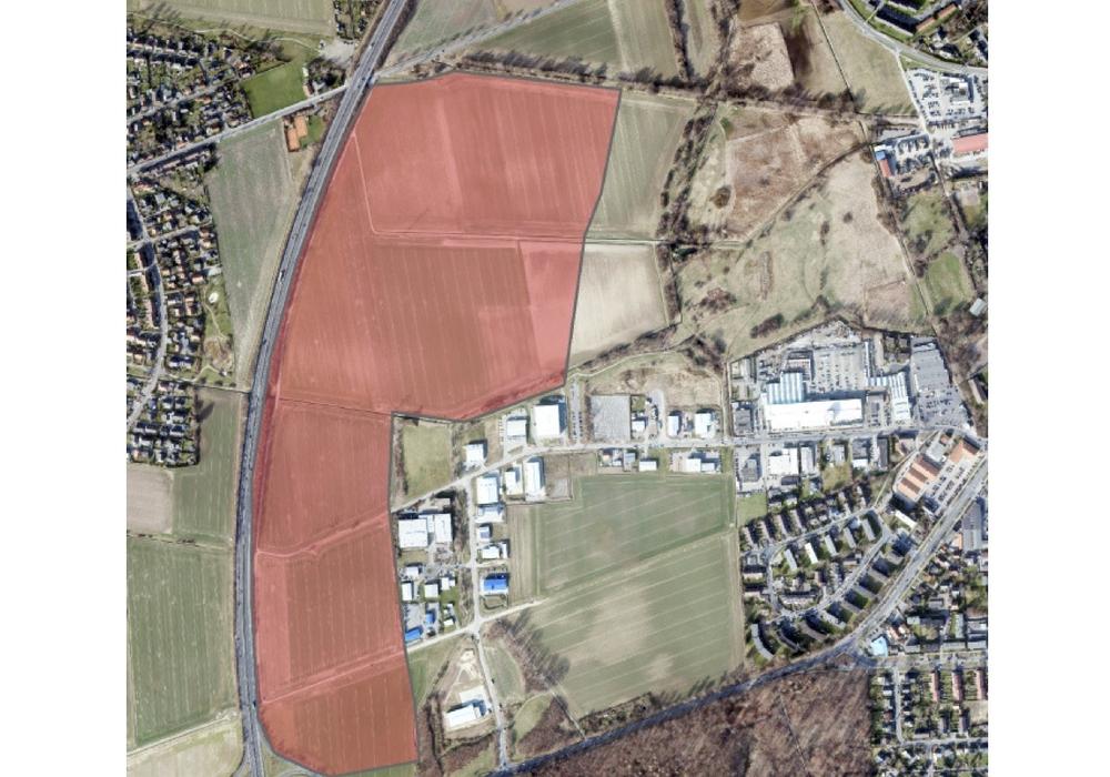 Hier könnte das interkommunale Gewerbegebiet entstehen. Grafik: Stadt Wolfenbüttel