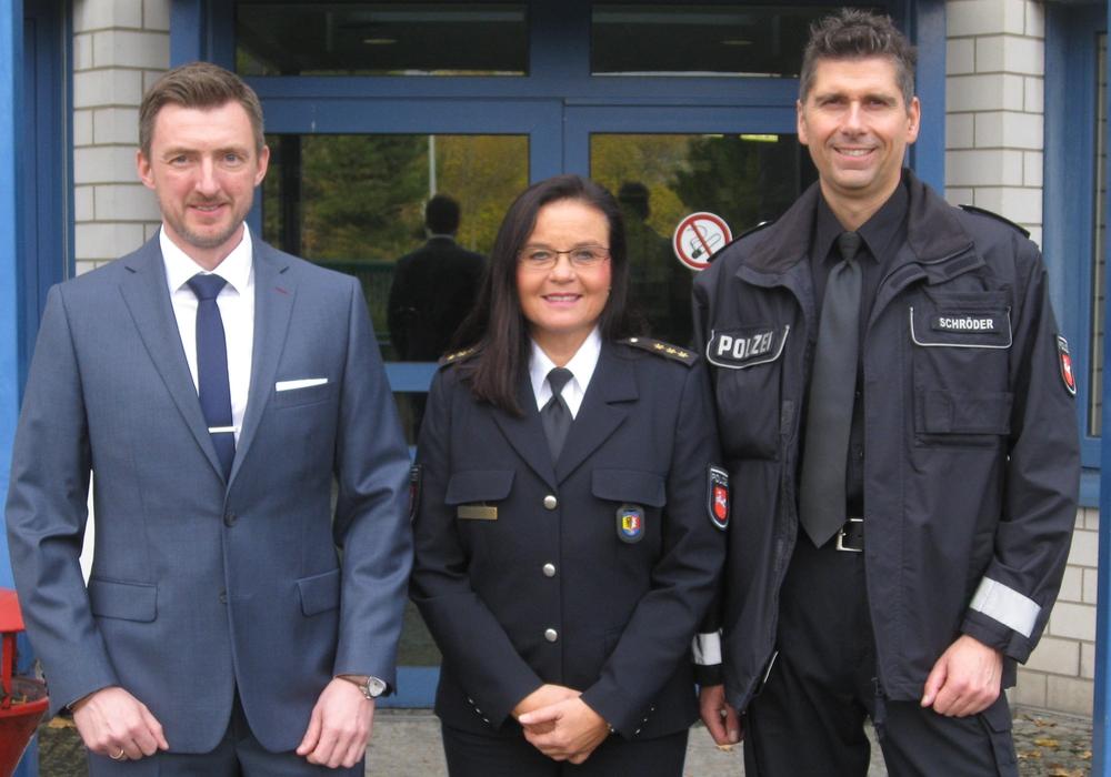 Kriminalrat Christian Priebe, Polizeidirektorin Petra Krischker und Polizeihauptkommissar Lars Schröder. Foto: Polizei Goslar