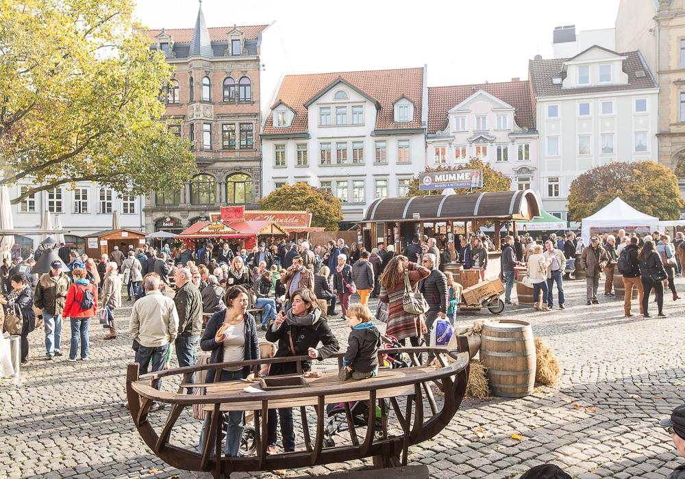 Bei der mummegenussmeile gibt es ein vielfältiges Angebot an Mumme-Kreationen zu entdecken. Foto: Braunschweig Stadtmarketing GmbH/Marek Kruszewski
