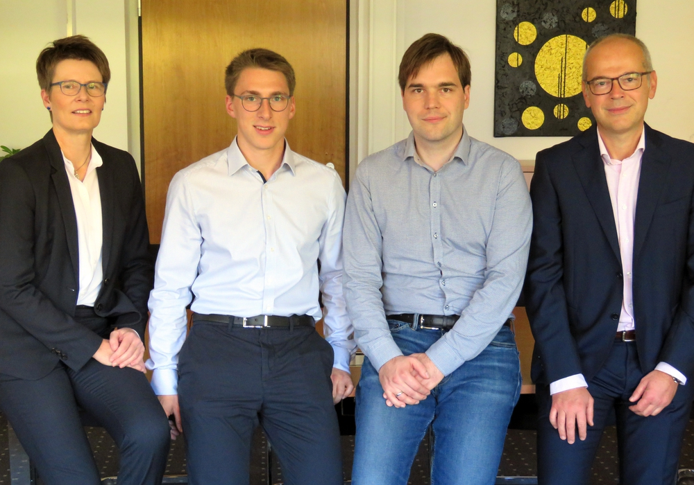 Die Projektpartner von Ostfalia und ITK Engineering beim Kick-off-Meeting an der Hochschule in Wolfenbüttel. Foto: Ostfalia