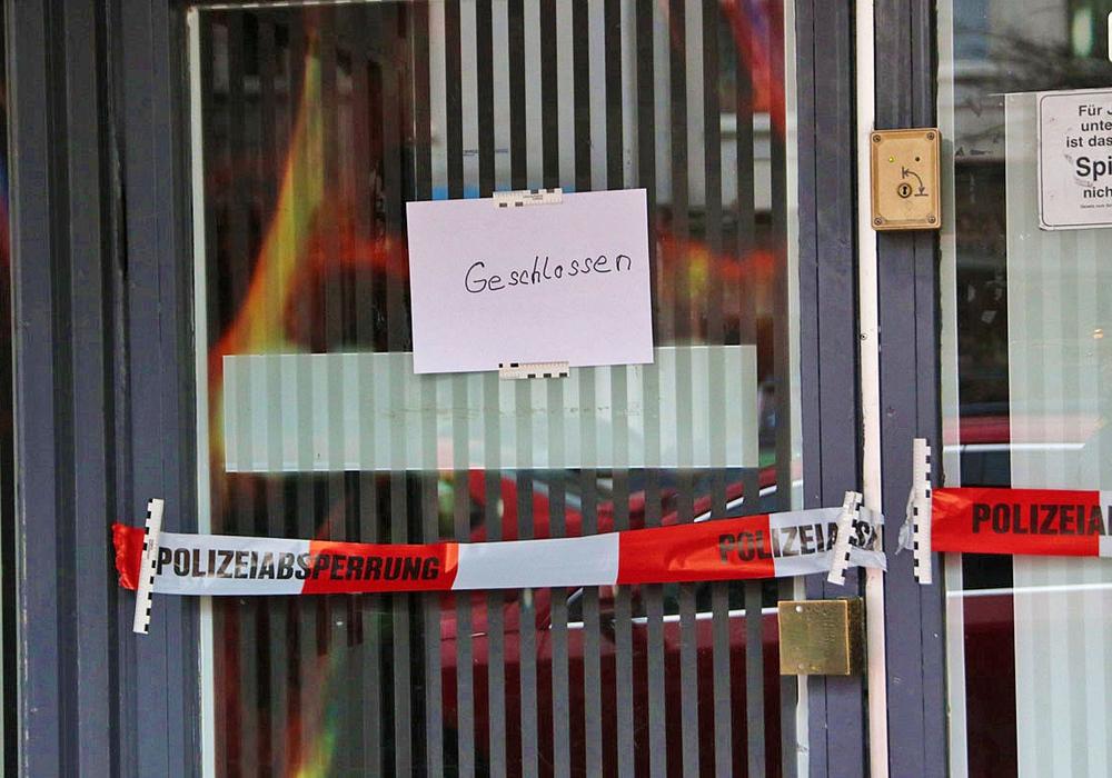 Die Spielhalle wurde bis auf weiteres von den Beamten geschlossen. Nun sind weitere Zeugenaussagen  notwendig. Foto: Rudolf Karliczek