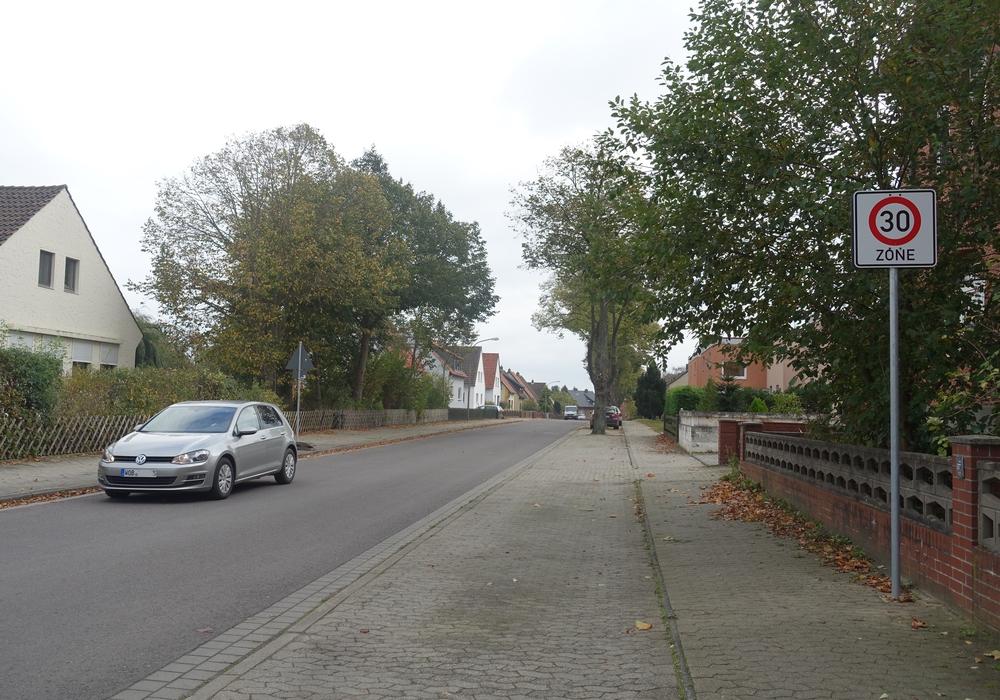 Die Walbecker Straße ist eine der neuen Tempo 30 Zonen.Foto/Grafik: Gemeinde Grasleben