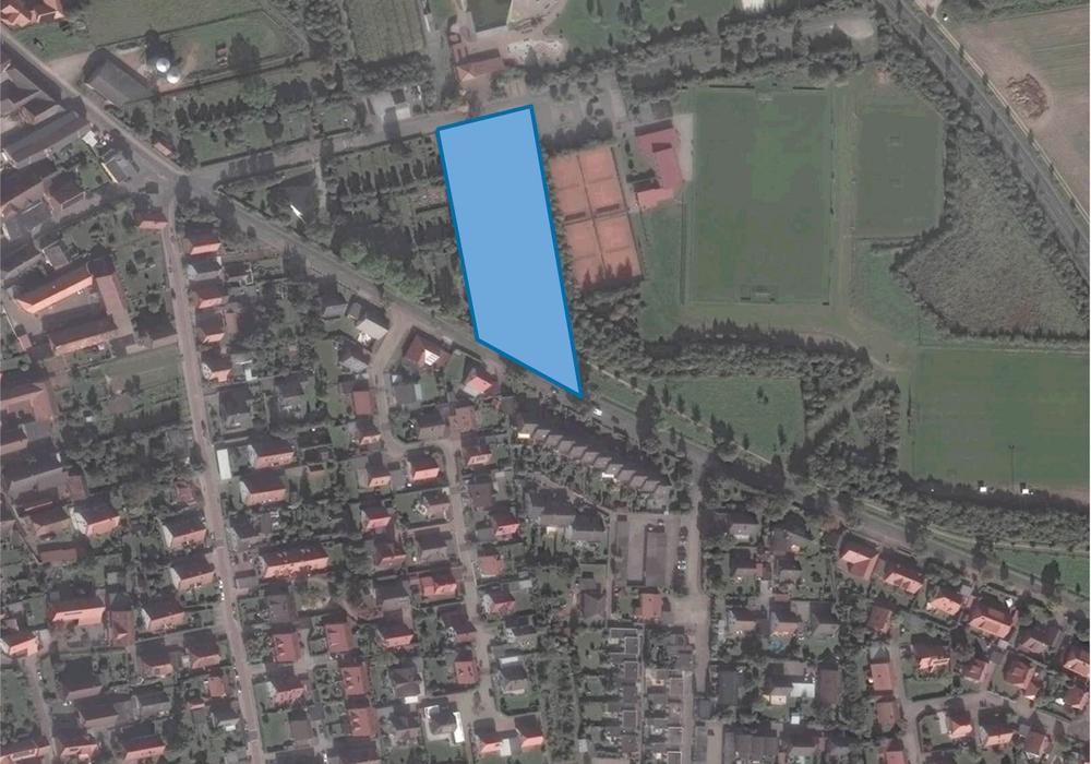 Für diesen Bereich soll der neue Bebauungsplan aufgestellt werden. Karte: maps4news.com/©HERE