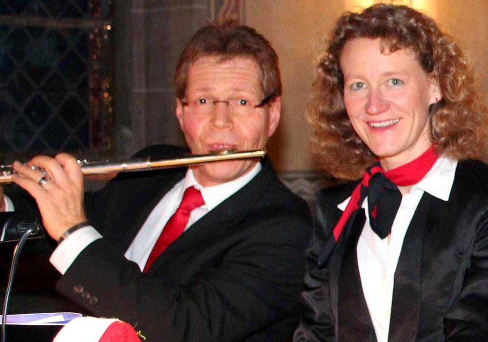 Anja und Uwe Klußmann spielen beim Adventskonzert in Schladen. Foto: Anja Klußmann